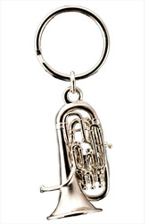 Euphonium Key Chain - Nickel Silver Plate