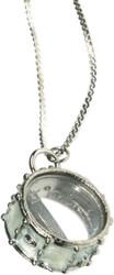 Harmony Jewelry Snare Drum Necklace White