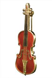 Harmony Jewelry Stradivarius Violin Pin (FPP543GM)