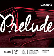 D'Addario Prelude Cello Single C String, 4/4 Scale, Medium Tension (J1014 4/4M)