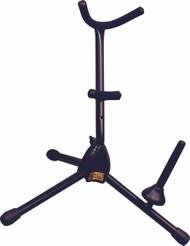 Hamilton Alto/Tenor sax Stand, Black, includes Flute/Clarinet peg