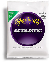 Martin M500 Phosphor Bronze 12-String Acoustic Guitar Strings, Extra Ligh