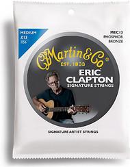 Martin MEC13 Clapton's Choice Phosphor Bronze Acoustic Guitar Strings, Mediu