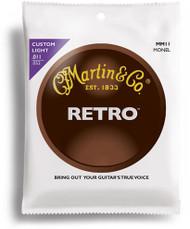 Martin MM11 Retro Monel Acoustic Guitar Strings, Custom Light, 11-5