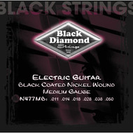 Set Black Diamond Nickel Wound Medium Black Coated N477MB