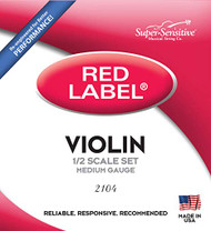 Super Sensitive 2104 Red Label Orchestra Gaugev 1/2 Violin Strings, Heav (SS210*O1/2)