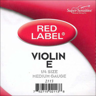 Super Sensitive Red Label 2113 Violin E String 1/4 (SS211*O1/4)