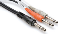 """2 M Hosa Insert Cable TRS To Dual 1/4"""""""