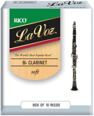 La Voz Bb Clarinet Reeds Soft 10-pack