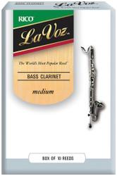 La Voz Bass Clarinet Reeds, Strength Medium, 10-pack