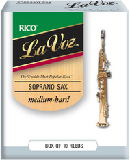 La Voz Soprano Sax Reeds, Strength Medium Hard, 10-pack