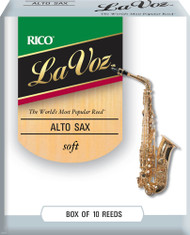 La Voz Alto Sax Reeds, Strength Soft, 10-pack
