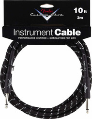 10' Fender® Performance Series Instrument Cable - Black Tweed