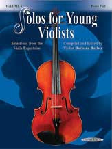 Solos For Young Violists Viola Part And Piano Acc., Volume 4 Selections From The Viola Repertoire