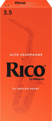 Rico 25-Pack Alto Sax Reeds #3.5 (6A3.5)