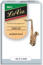 La Voz Tenor Sax Reeds Medium-Hard 10-pack