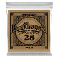Single Ernie Ball Earthwood Phosphor Bronze Acoustic Guitar .028 (B1828) Packaging Front