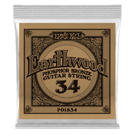 Single Ernie Ball Earthwood Phosphor Bronze Acoustic Guitar .034 (B1834)