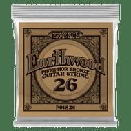 Single Ernie Ball Earthwood Phosphor Bronze Acoustic Guitar .026 (B1826) Packing Front