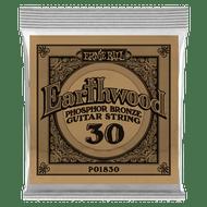 Single Ernie Ball Earthwood Phosphor Bronze Acoustic Guitar .030 (B1830) Packaging Front