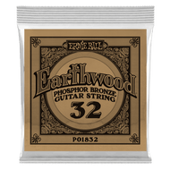 Single Ernie Ball Earthwood Phosphor Bronze Acoustic Guitar .032 (B1832) Packaging Front