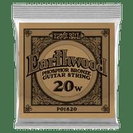 Single Ernie Ball Earthwood Phosphor Bronze Acoustic Guitar .020 (B1820) Packaging Front