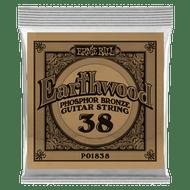 Single Ernie Ball Earthwood Phosphor Bronze Acoustic Guitar .038 (B1838)