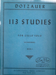 113 Studies for Cello Solo, Book I (Sheet Music)
