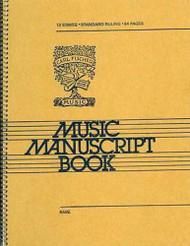 12 Stave Music Manuscript Book