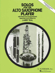 Solos For The Alto Saxophone Player, Alto Sax And Piano