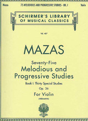 75 Melodious And Progressive Studies, Op. 36 - Book 1, Violin Method
