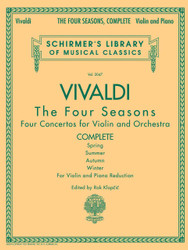 Antonio Vivaldi - The Four Seasons, Complete, For Violin And Piano Reduction, Library Volume 2047
