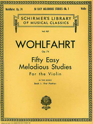 50 Easy Melodious Studies, Op. 74 - Book 1, Violin Method