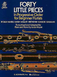 Forty Little Pieces, For Flute & Piano, Book Only