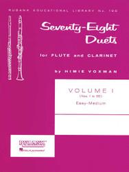 78 Duets For Flute And Clarinet, Volume 1 - Easy To Medium (No. 1-55)