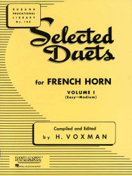 Selected Duets For French Horn, Volume 1 - Easy To Medium