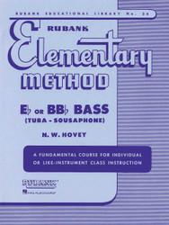 Rubank Elementary Method - E-Flat/Bb-Flat Bass (Tuba Or Sousaphone)