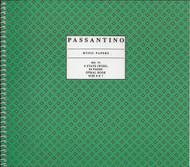 73. Spiral Book 6-Stave, Passantino Manuscript Paper