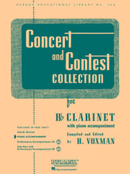Concert And Contest Collection, Bb Clarinet - Piano Accompaniment, Piano Part