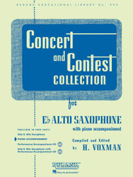 Concert And Contest Collections, Eb Alto Sax - Piano Accompaniment, Alto Saxophone - Piano Part