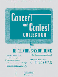 Concert And Contest Collections, Bb Tenor Sax - Piano Accompaniment, Tenor Saxophone - Piano Part