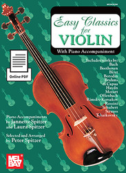 Easy Classics for Violin - With Piano Accompaniment (Book + Online PDF Supplement)