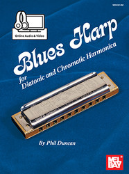 Blues Harp - Diatonic & Chromatic Harmonica (Book + Online Audio/Video)