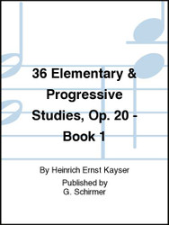 36 Elementary & Progressive Studies, Op. 20 - Book 1, Violin Method (87894)