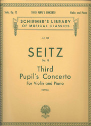 Pupil's Concerto No. 3 In G Minor, Op. 12, Score And Parts