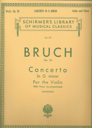 Concerto In G Minor, Op. 26, Score And Parts
