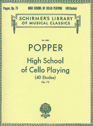 David Popper: High School Of Cello Playing, Op. 73, 40 Etudes Cello Method
