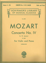 Concerto No. 4 In D Major, K.218, Score And Parts