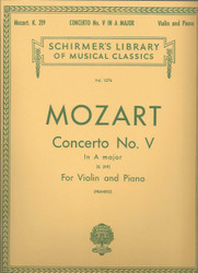 Concerto No. 5 In A, K.219, Score And Parts