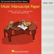 Hal Leonard Student Piano Library Music Manuscript Paper - Wide Staff, Wide Staff